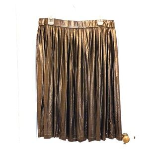 ELOQUII Pleated Metallic Skirt